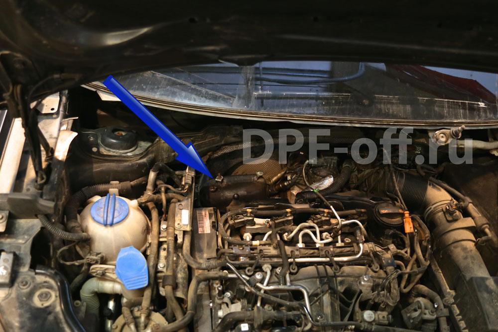 Удаление сажевого фильтра на VW Caddy 2.0 TDI/ Фольксваген Кедди 2.0 дизель