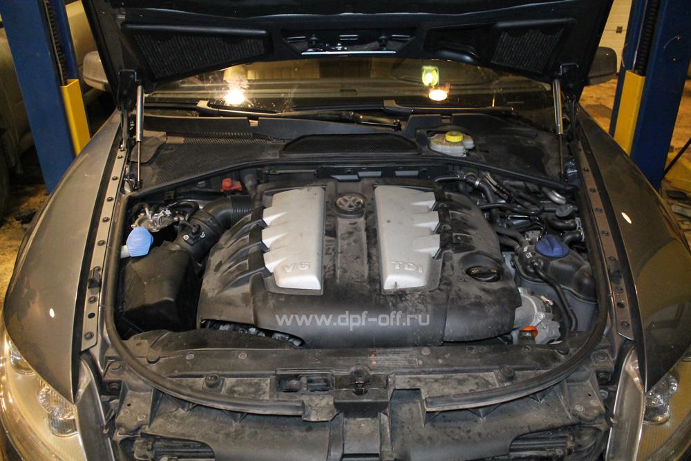 Удаление сажевого фильтра на Volkswagen Phaeton 3.0 TDI / Фольксваген Фаетон 3.0 дизель