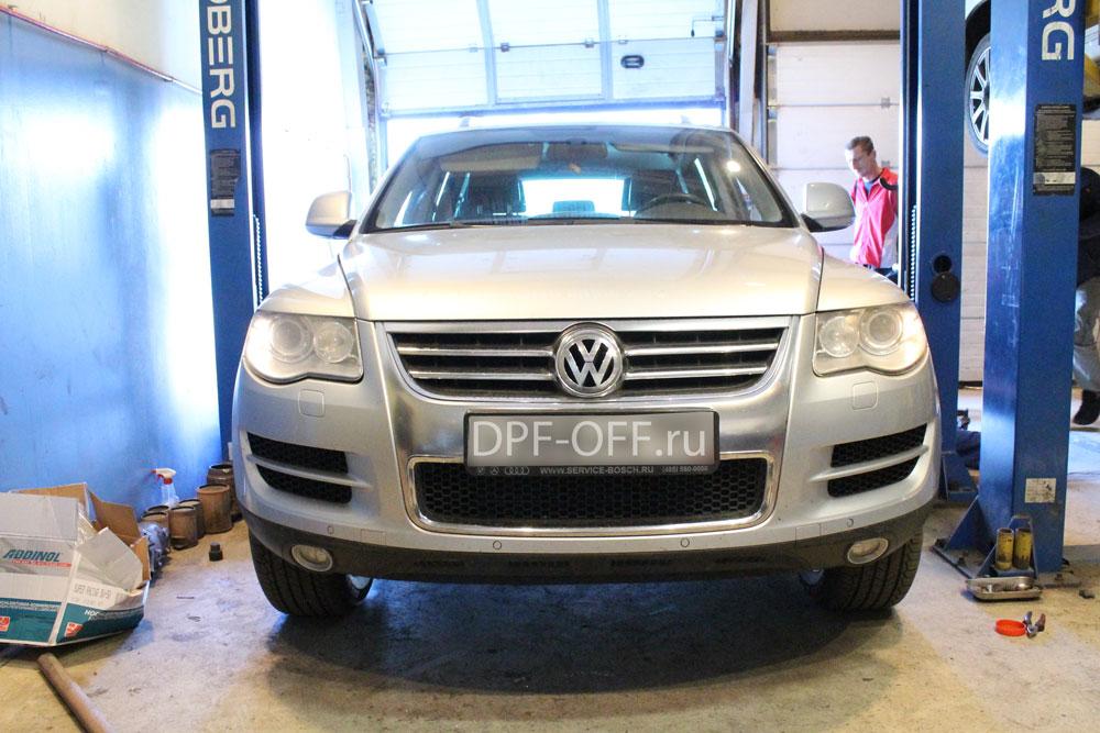 Удаление сажевого фильтра на Volkswagen Touareg GP 3.0 TDI