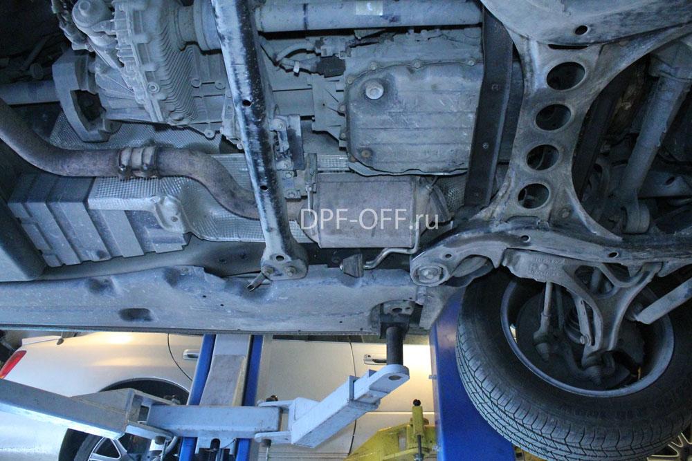 Удаление сажевого фильтра на VW Touareg 3.0 TDI / Фольксваген Туарег 3.0 дизель