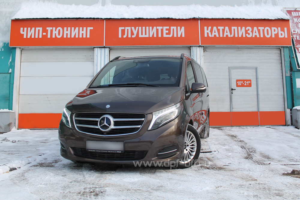 Удаление BlueTEC и сажевого фильтра на Mercedes-Benz V250 BlueTEC 2.1d / Мерседес-Бенц В250 Блютек 2,1 дизель